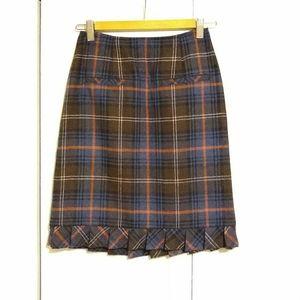 Cabi Tweed Wool Blend Mini Skirt - 0